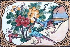 Fågelmålning royaltyfri foto