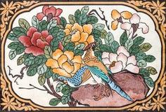 Fågelmålning royaltyfria bilder