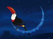 fågelmoon stock illustrationer