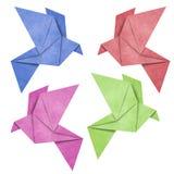 fågeln gjord origamipapperspapercraft återanvänder Arkivfoton