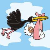 Fågeln och behandla som ett barn Arkivbild