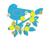 Fågeln på filial och sidor för meddelar pojkefödelse Royaltyfria Foton