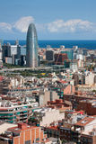 Beskåda av Barcelona Arkivfoton