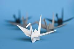 fågelorigami royaltyfri bild