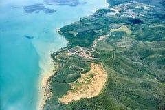 Fågelperspektiv på Thailand Arkivfoto