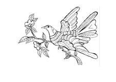 fågelprydnad royaltyfri illustrationer