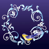 fågelramprydnad Royaltyfria Bilder