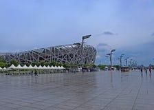 Fågelredet - stadion för Pekingmedborgare Royaltyfria Foton