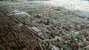 Fågels sikt för öga av Pekingstaden royaltyfria foton