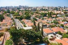 Fågels sikt för öga av telefon Aviv Suburbs Arkivfoton