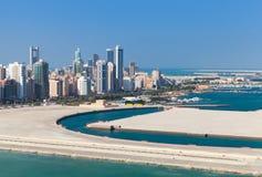 Fågelsikt av den Manama staden, Bahrain Royaltyfri Fotografi