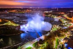 Fågelsikt av Niagara Falls Royaltyfria Bilder