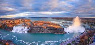 Fågelsikt av Niagara Falls Arkivfoto