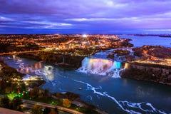 Fågelsikt av Niagara Falls Royaltyfri Bild