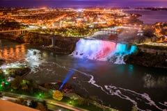 Fågelsikt av Niagara Falls Arkivbilder