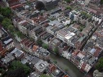 fågelsikt av Utrecht, Netherland Arkivfoton