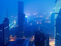 Fågelsikt på Nanchang Kina. Arkivbilder