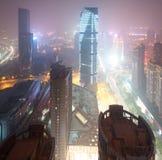 Fågelsikt på Nanchang Kina. Arkivfoton