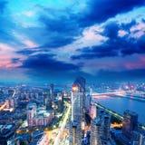 Fågelsikt på Nanchang Kina. Royaltyfria Bilder