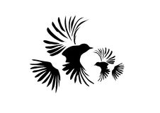fågelsilhouette Vektor Illustrationer