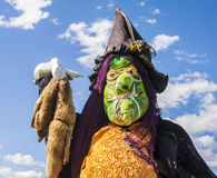 Fågelskrämma på den årliga fågelskrämmafestivalen, Mahone fjärd, Cana Royaltyfri Fotografi