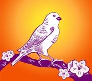 fågelsommar stock illustrationer
