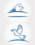 Fågelsymbol Royaltyfri Fotografi