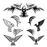 Fågelsymboler Royaltyfri Illustrationer