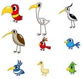 fågeltecknad filmsymbol Arkivfoto
