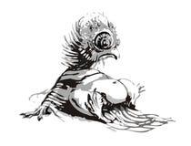 fågelungesqueaker vektor illustrationer