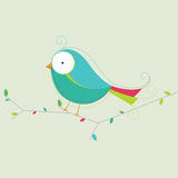 Fågelvektorillustration Arkivbilder