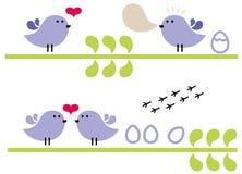 Fåglar. Royaltyfri Bild
