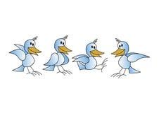 fåglar Vektor Illustrationer