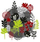Fåglar, blommor och annan natur. Arkivbild