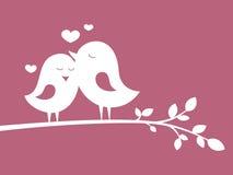 Fåglar förälskad 1 royaltyfri illustrationer
