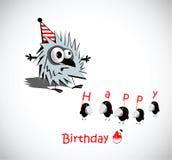 Fåglar för kort för lycklig födelsedag vektor illustrationer