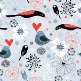 fåglar fine textur royaltyfri illustrationer