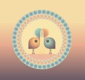 fåglar little förälskelse två royaltyfri illustrationer