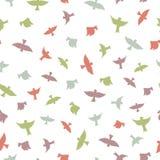 fåglar mönsan seamless Färgkonturer av fåglar Royaltyfri Fotografi