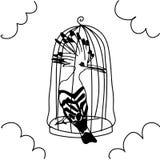 Fåglar mönstrar, konster Royaltyfri Bild