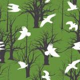 Fåglar på parkerar i flykten Royaltyfri Illustrationer