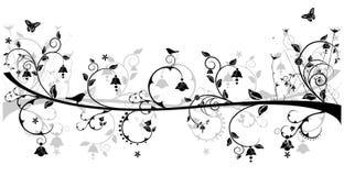 fåglar planlägger blom- Royaltyfri Illustrationer