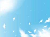 fåglar som flyger skyen Vektor Illustrationer