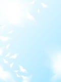 fåglar som flyger skyen Stock Illustrationer