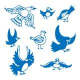 fåglar ställde in Royaltyfri Illustrationer