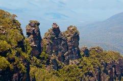 Tre systrar, blåttberg, Australien Fotografering för Bildbyråer