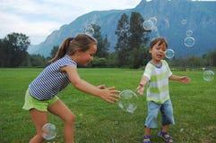 fånga för bubblor Arkivbild
