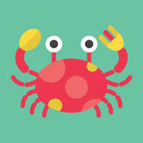 fånga krabbor red Fotografering för Bildbyråer