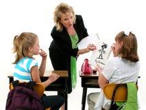 fångad lärare arkivfoto