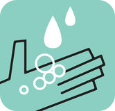 Fångande raindrops för hand Stock Illustrationer
